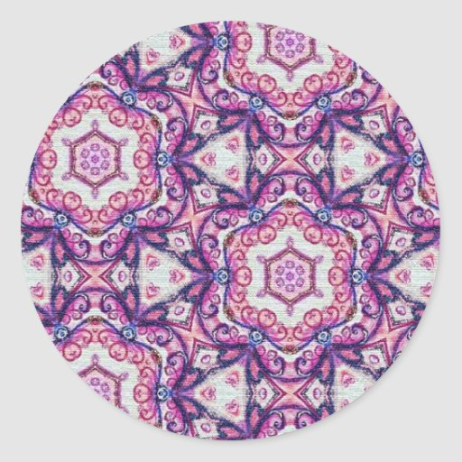 Colorful multicolor repeat patterns classic round sticker