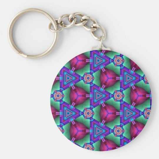 Colorful multicolor repeat patterns keychain