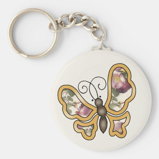 Colorful multicolor repeat patterns basic round button keychain