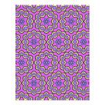 Colorful multicolor repeat patterns custom letterhead