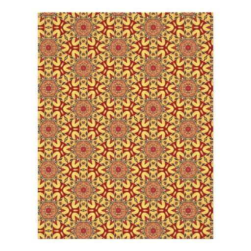 Colorful multicolor repeat patterns letterhead