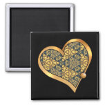 Colorful multicolor repeat patterns refrigerator magnet