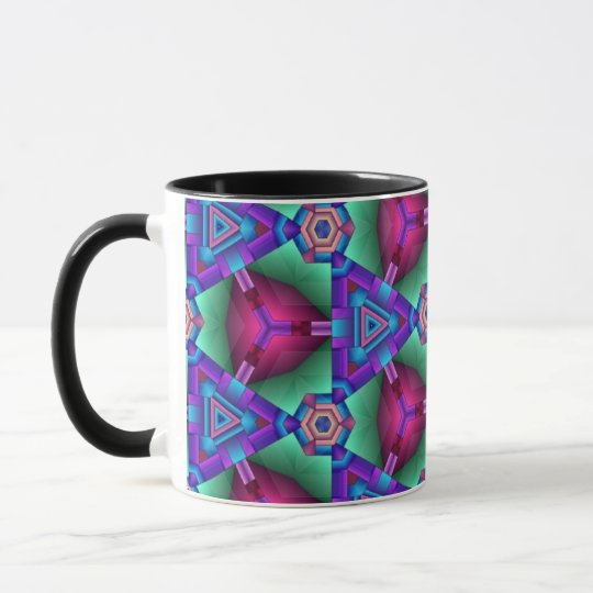 Colorful multicolor repeat patterns mug