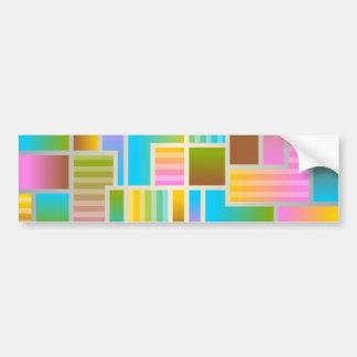 Colorful Multicolored Abstract Design Car Bumper Sticker
