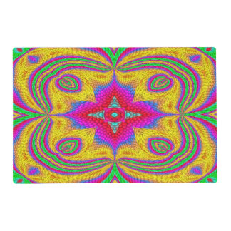 Colorful multicolored abstract pattern placemat