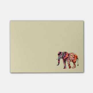 Colorful Multicolored Elephant Post-it Notes