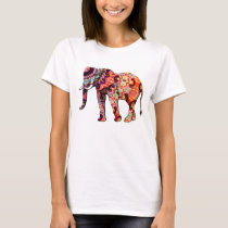Colorful Multicolored Elephant T-Shirt