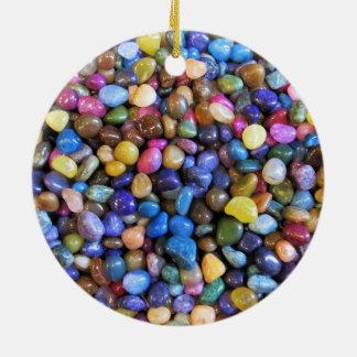 Colorful Multicolored Pebbles Ceramic Ornament