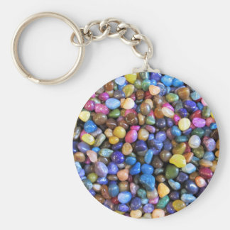Colorful Multicolored Pebbles Keychain