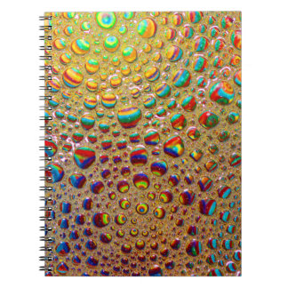 Colorful Multicolored Soap Bubbles Art Spiral Notebook