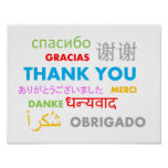 Colorful Multiple Language Thank You Poster