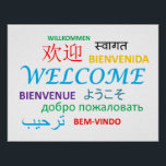 """Colorful Multiple Language Welcome Poster<br><div class=""""desc"""">This is a welcome poster with &quot;welcome&quot; in multiple languages from around the world.</div>"""