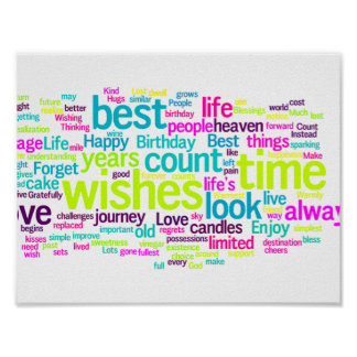 Colorful Multiple Language Word Cloud Poster