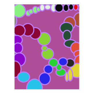 colorful multiverse in purple postcard
