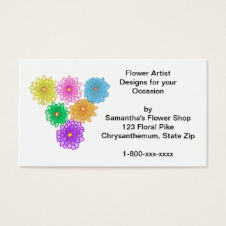 Colorful Mums Custom Business Cards