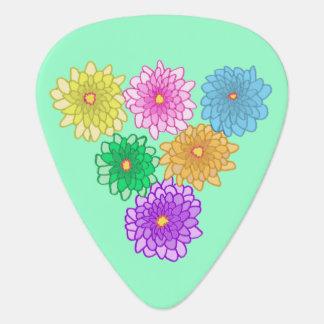 Colorful Mums Flowers Chrysanthemums Guitar Picks