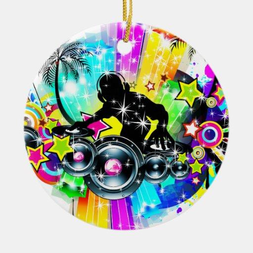 Colorful Music DJ Christmas Tree Ornaments