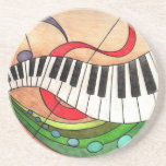 Colorful Music Drink Coasters
