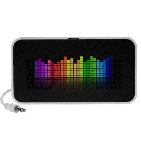 Colorful Music Equalizer Doodle Speaker