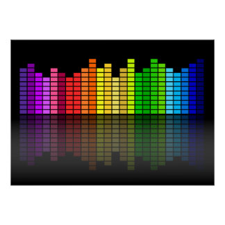 Colorful Music Equalizer Poster