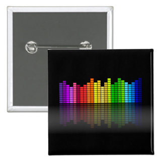 Colorful Music Equalizer w/Reflection, Cool Techno Pins