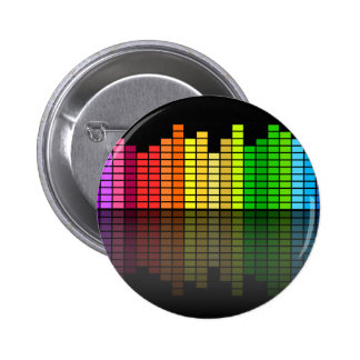 Colorful Music Equalizer w/Reflection, Cool Techno Button