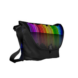 Colorful Music Equalizer w/Reflection, Cool Techno Courier Bag