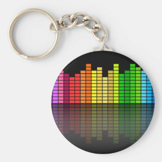 Colorful Music Equalizer w/Reflection, Cool Techno Keychain