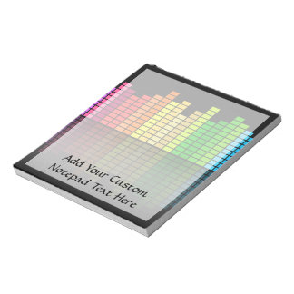 Colorful Music Equalizer w/Reflection, Cool Techno Memo Note Pads