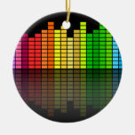 Colorful Music Equalizer w/Reflection, Cool Techno Ornaments