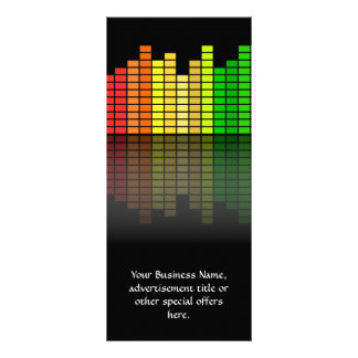 Colorful Music Equalizer w/Reflection, Cool Techno Rack Card