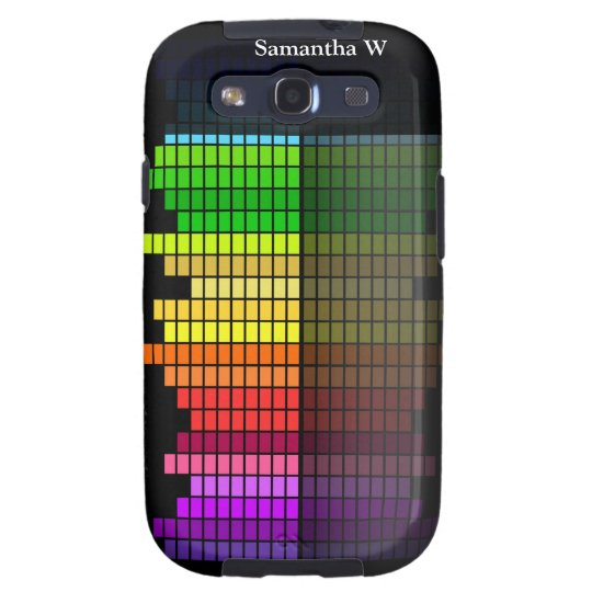 Colorful Music Equalizer w/Reflection, Cool Techno Samsung Galaxy S3 Cover