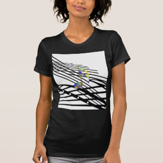 Colorful Music in Black and White T-Shirt
