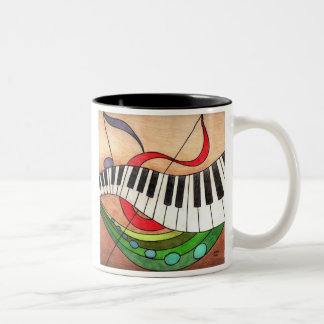 Colorful Music, In life, being off-beat can be ... Two-Tone Coffee Mug