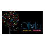 Colorful Music Musical Notes Song Singing Pop Tree Business Card Template