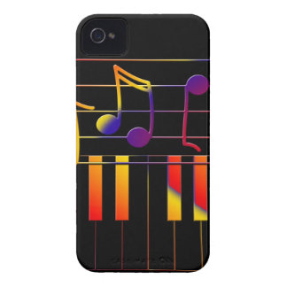 Colorful Music Notes and Keys Case-Mate iPhone 4 Case
