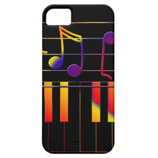 Colorful Music Notes and Keys iPhone SE/5/5s Case