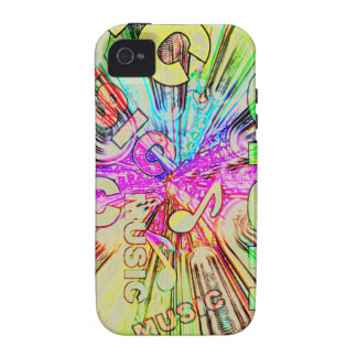 Colorful Music Notes Case-Mate iPhone 4 Cases