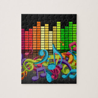 colorful music notes equalizer jigsaw puzzle