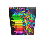 colorful music notes equalizer sounds cool bright canvas print