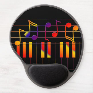 Colorful music notes illustration gel mouse pad