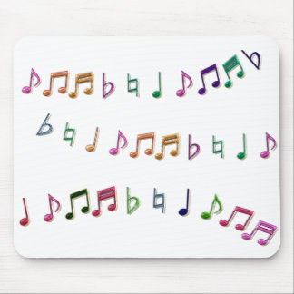 Colorful Music Notes Mousepad