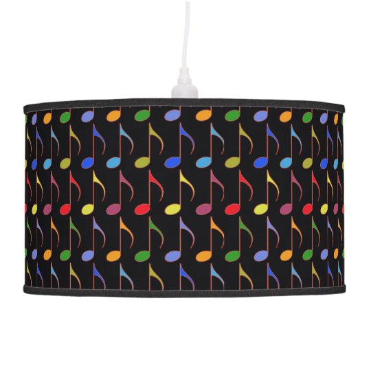 colorful music notes pattern hanging lamp