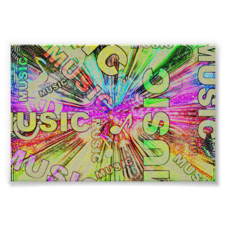 Colorful Music Notes Poster