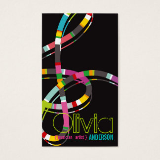 Colorful Music Notes Treble String Artist Art Song Business Card