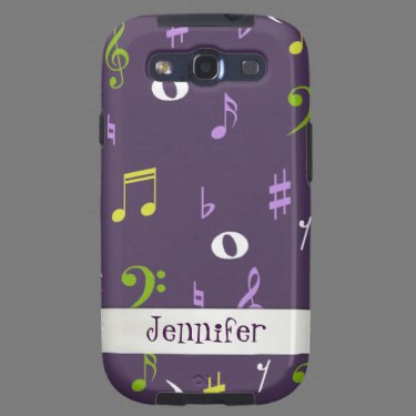 Colorful Music Samsung Galaxy S3 Phone Case Samsung Galaxy S3 Cover