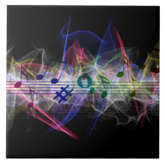 Colorful Music Style Ceramic Tile