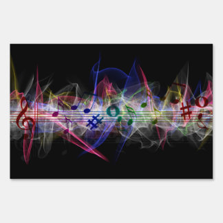 Colorful Music Style Sign