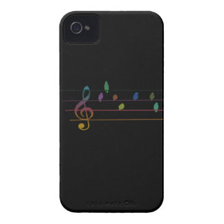 Colorful musical birds on power line iPhone 4 covers