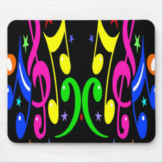 Colorful Musical Design - Awesome! Mouse Pad